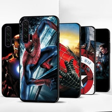 Cover For Huawei Nova 5T Case Nova 5T 5 T Spiderman Black TPU Phone Case For Huawei Nova 5T Cover