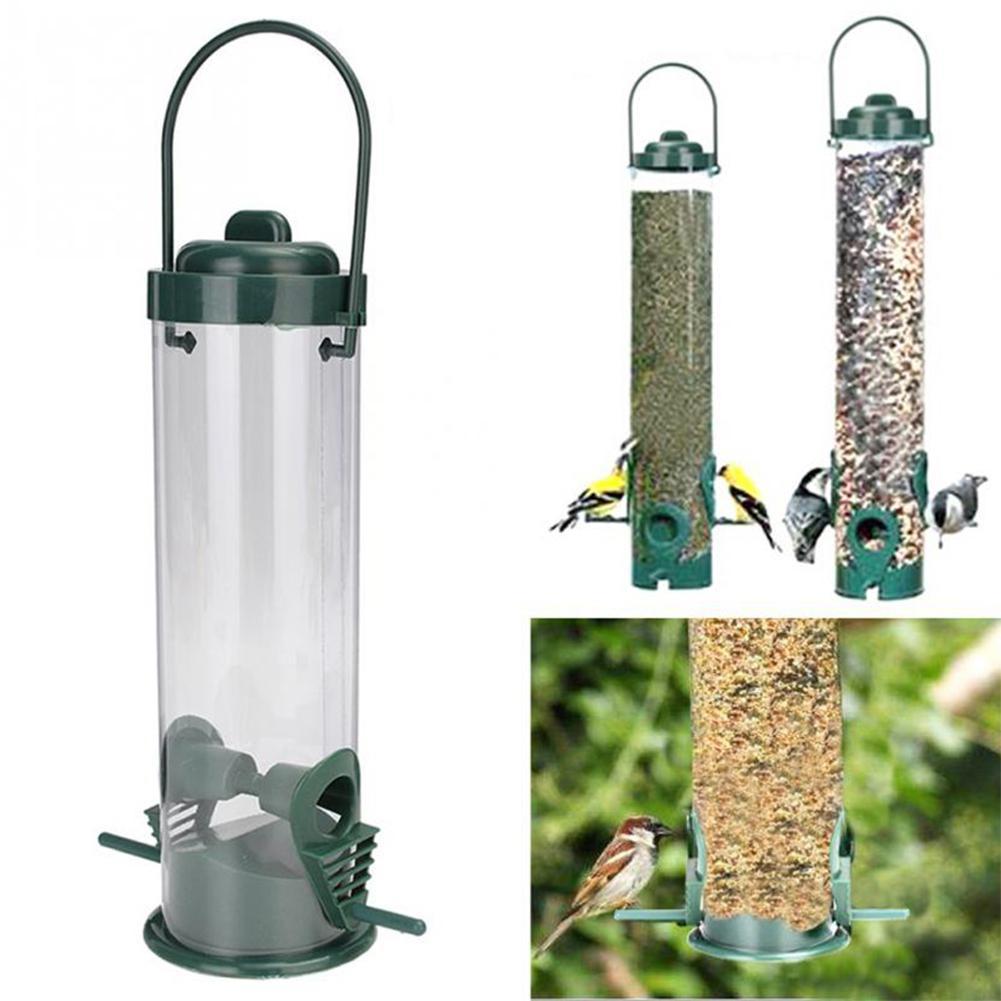 1 unidad comederos para pájaros Estación de alimentación colgante alimentador de agua para pájaros alimentador de bebedero de agua con Clip para pájaros para mascotas suministros para loros