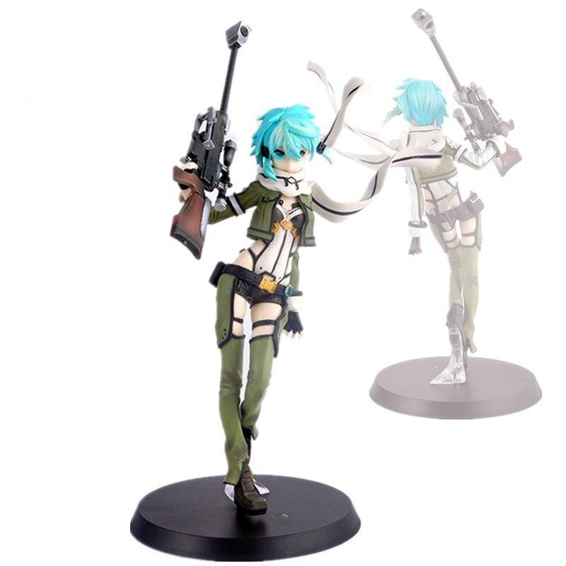 22 см аниме Sword Art Online Asada Shino фигурка SAO II 3 издание Sinon ПВХ фигурка Коллекционная модель игрушки куклы