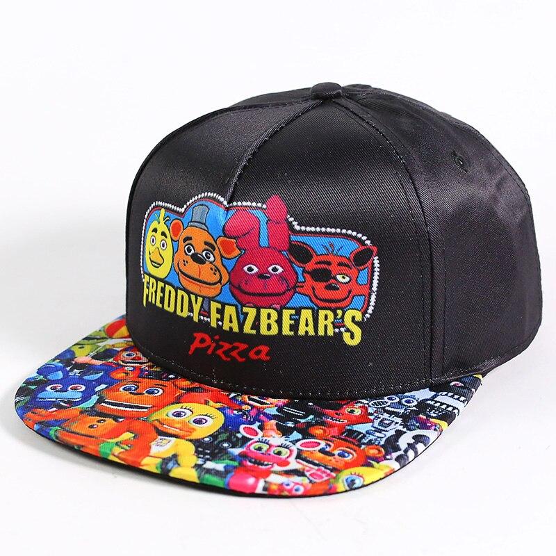 Five Nights at Freddys FNAF Snapback Baseball Caps Fashion Cartoon Print Hip Hop Cap Hat