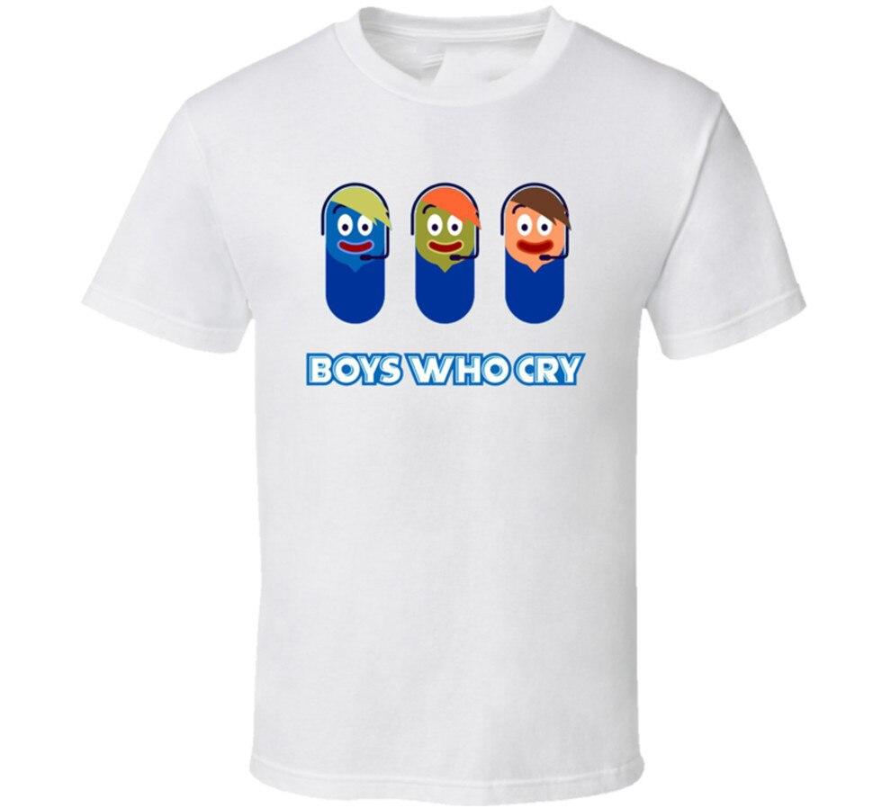 Novos meninos que choram spongebob fictício musican masculino camiseta roupas tamanho S-2Xl feito sob encomenda camiseta