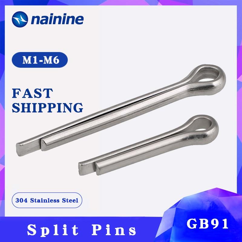 GB91 [M1-M10] pasador de chaveta de acero inoxidable 304 Pins divididos A018