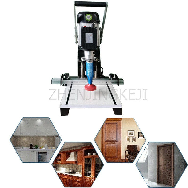 Портативное оборудование для сверления петель 220 В/кВт, сверлильный станок для деревянных дверей для мебели, шкафов и столярных работ