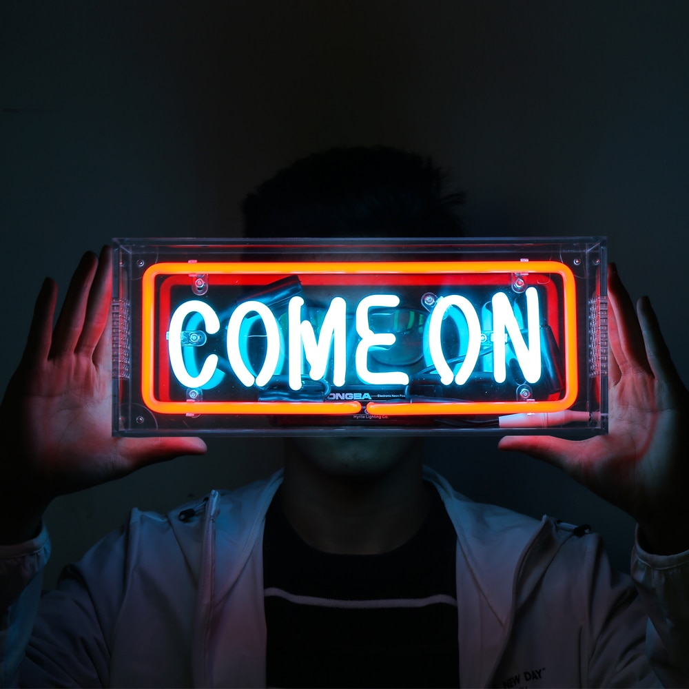 Custom Clear Acrylic Neon Letters Box Table Light Decoration for Home Club Bedroom BAR Lamp Gift