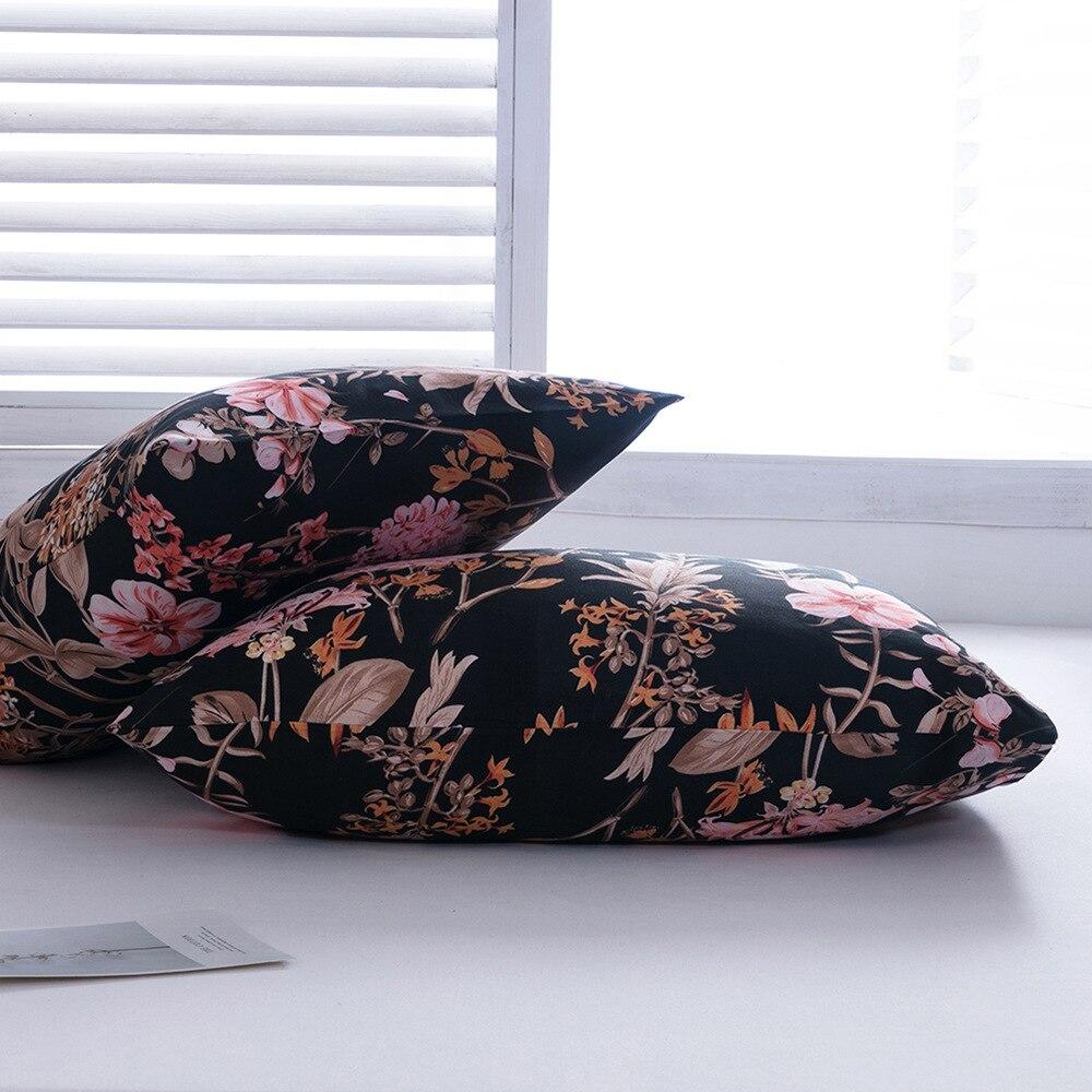 2pc 51x66cm 51x92cm beleza floral impresso fronha fronha fronha capa para decoração do quarto xadrez listrado fronhas
