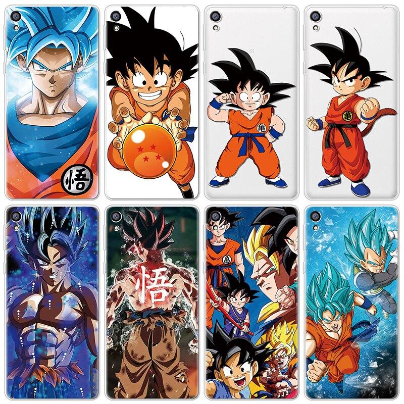 Dragon Ball Z Super DBZ Goku funda de moda para Sony Xperia 10 L1 L2 XZ XZ2 XZ3 X XA1 Ultra Plus funda compacta de silicona TPU