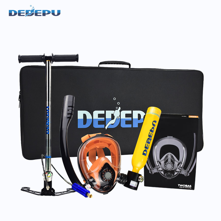 DEDEPU S5000PLUS Set Freestyle Breath Underwater within 10M Spare Air Tank with Snorkeling Mask Scuba Diving Equipment