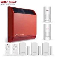 Wolf-Guard     sirene Flash solaire  433MHz  105dB  systeme Anti-cambriolage dexterieur  Protection de lenvironnement  securite domestique