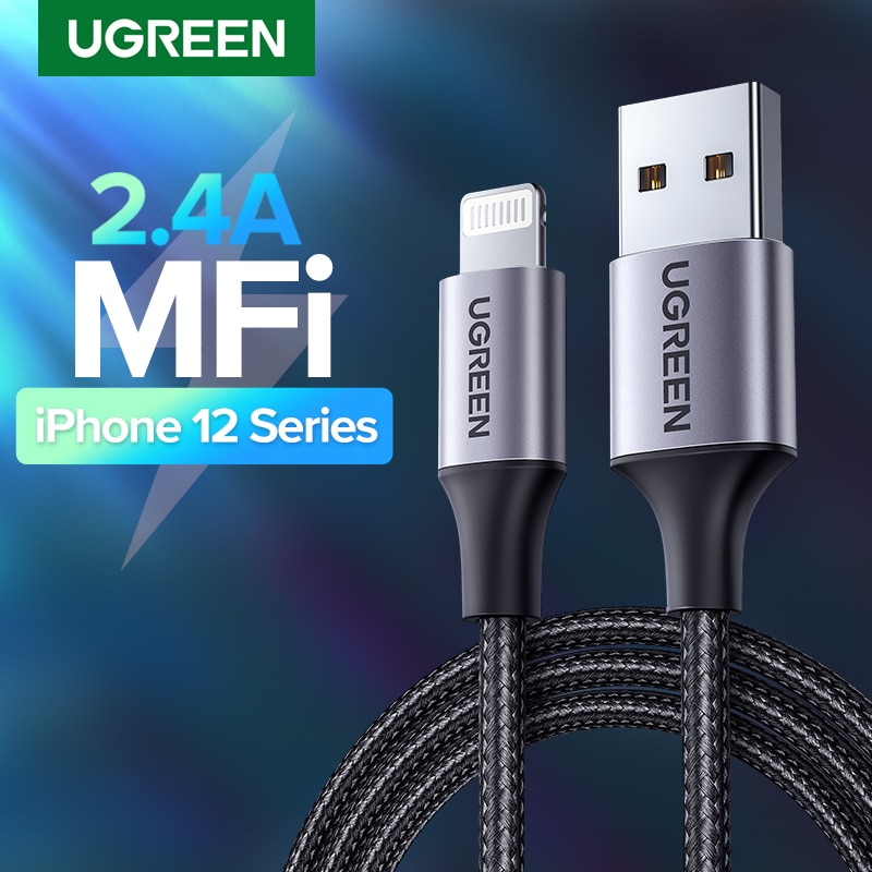 UGREEN-Cable USB MFi de carga rápida para móvil, cargador de teléfono para...