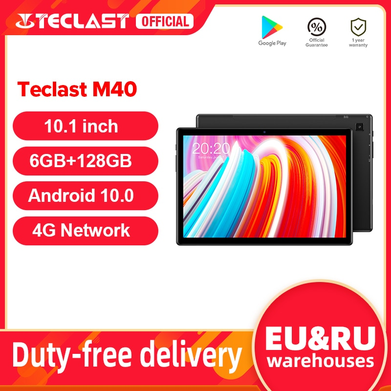 Teclast M40 10.1'' Tablet 1920x1200 4G Network UNISOC T618 Octa Core 6GB RAM 128GB ROM Tablets PC An