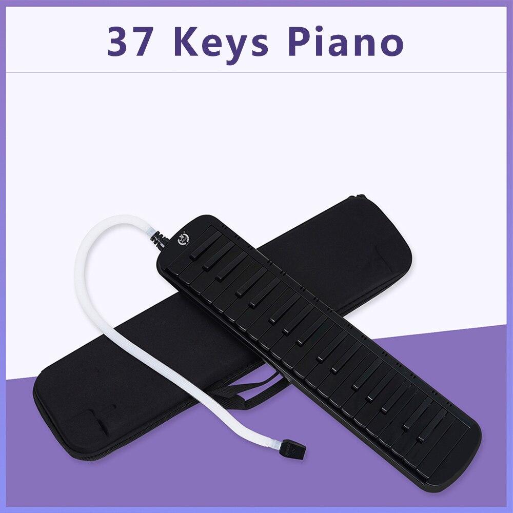 م MBAT 37 مفاتيح البيانو ميلوديكا جودة لوحة المفاتيح الموسيقية الأسود مع حقيبة حمل لمحبي الموسيقى المبتدئين الاطفال هدية