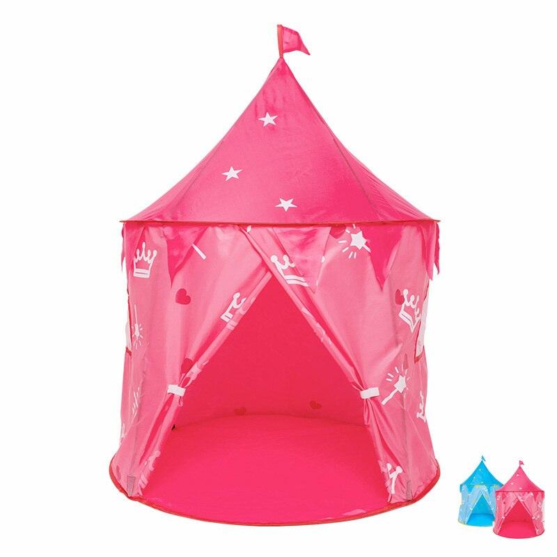 Children Game Teepee Slumber Party Play House Pink Tipi Girl Boys Baby Bed Ball Room Outdoor Sleepover Tent Wigwam Sleeping Hut