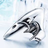 new trendy animal long beak beak shape ring mens ring fashion metal animal shape ring accessories party jewelry