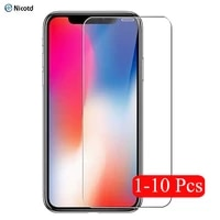 1 10pcslot screen protector protective for iphone 12 mini x xs 11 pro max xr 7 8 se 2020 6 6s plus 5 5s 4s tempered glass case