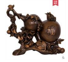 Muebles de productos para Zhaocai decoración calabaza madera Fengshui sala de estar hogar Oficina calabaza Golden sapo de gran apertura regalo