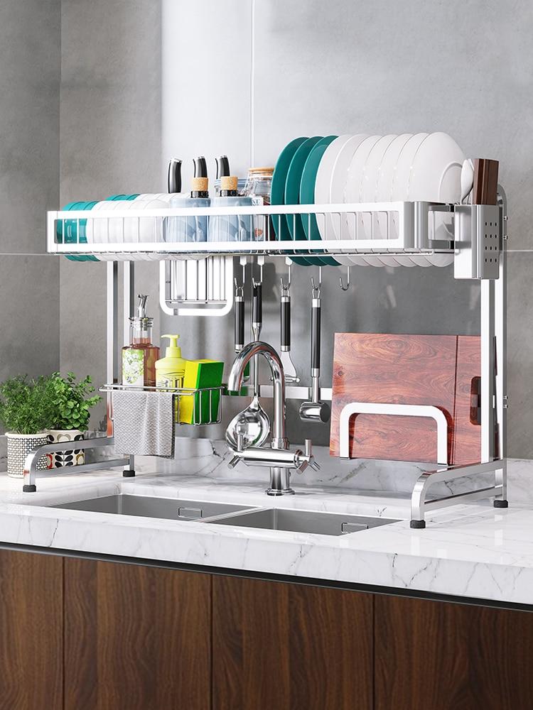 رف مصفاة من الفولاذ المقاوم للصدأ ، يمكن استخدام وعاء أو عيدان تناول الطعام أو حوض المطبخ ، للاستخدام المنزلي