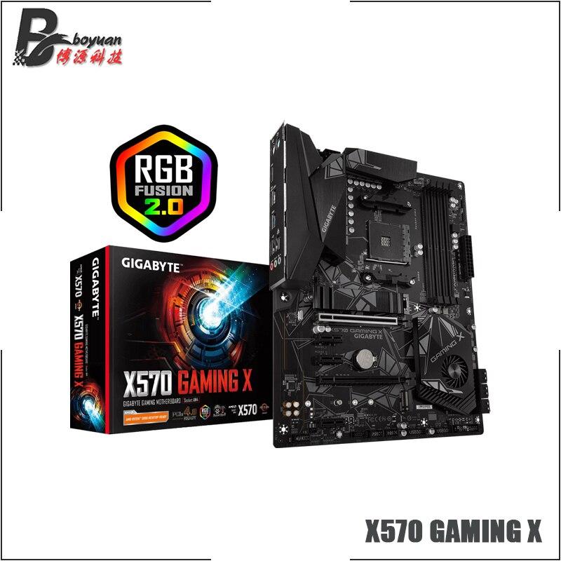 Gigabyte GA X570 GAMING X ATX AMD X570/M.2/DDR4/двойные каналы/SSD/128G/USB3.2/STAT3.0/Новый/может поддерживать R9 3900x cpu/Socket AM4