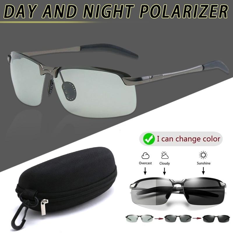 Brainart Men Photochromic Sunglasses with Polarized Lens for Driving Outdoor J55