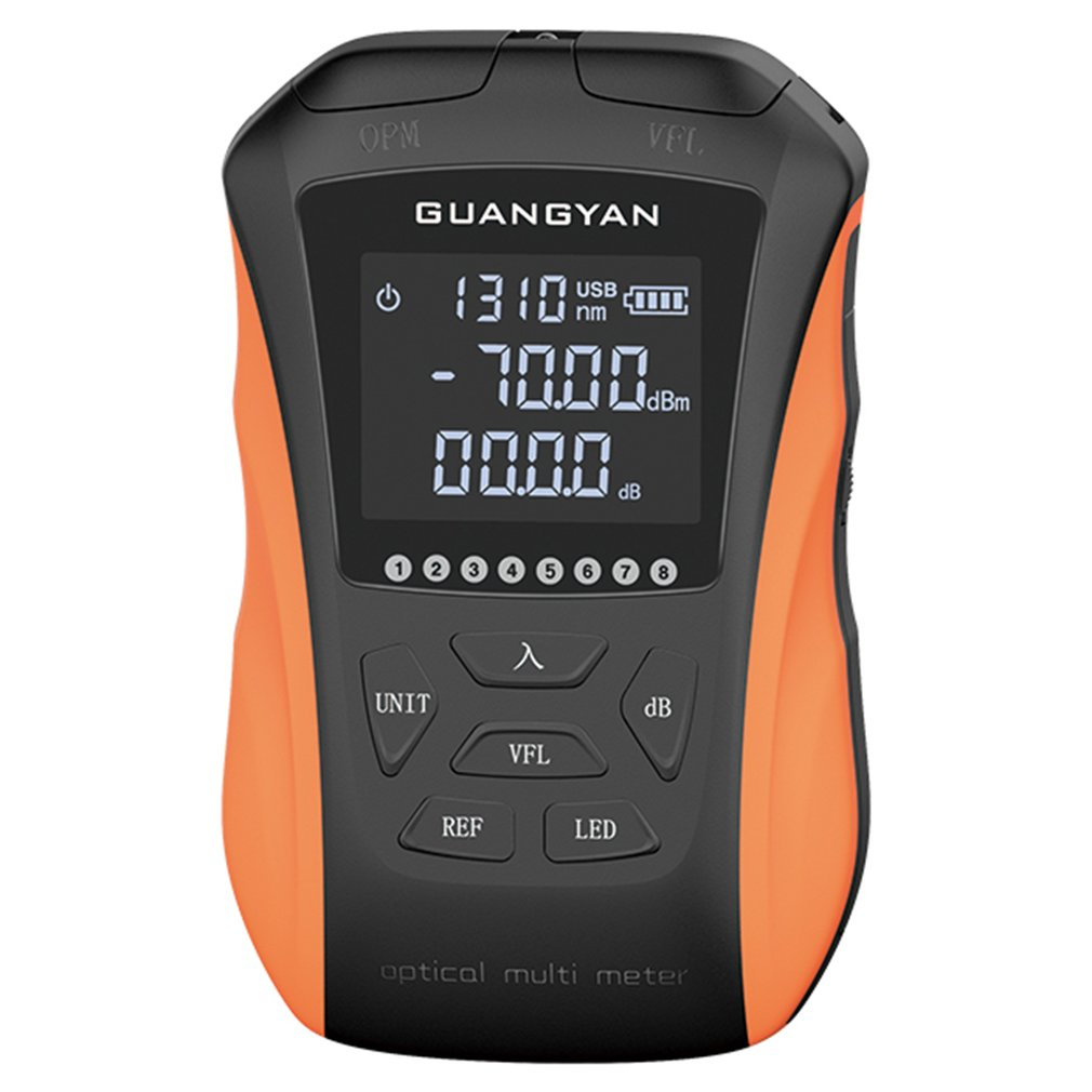 G8-SGS211/G8-SGS311 Rechargeable Optical Power Meter 15km -70+10 Multi-function Five/Six In One Red Light Integrated Machine