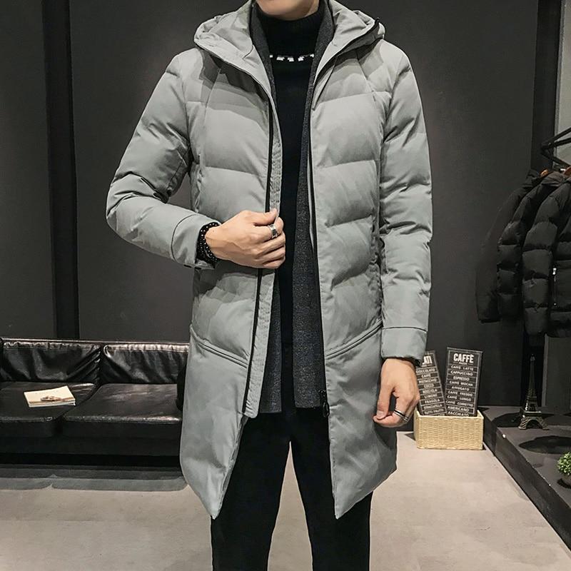 Новая зимняя Модная молодежная одежда средней и длинной длины для мужчин Корейская версия популярная хлопковая утолщенная искусственная к...