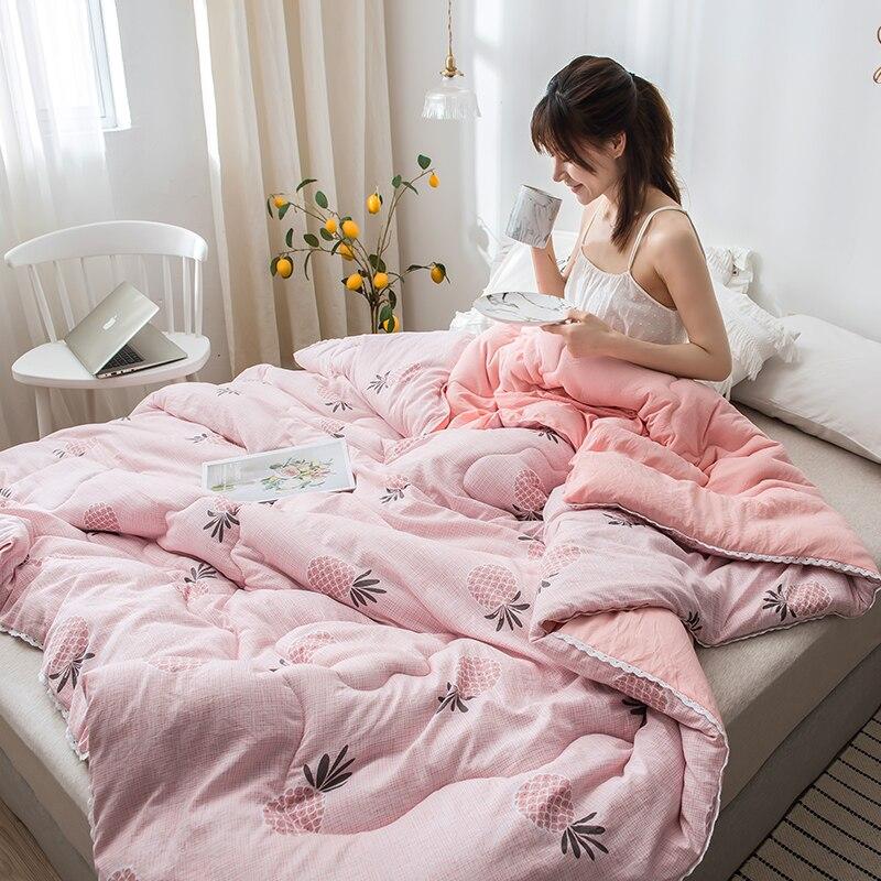 SF الكرتون نمط غسلها القطن الألحفة سوبر الملك التوأم حجم السرير يغطي 3-5 كجم الوزن 4 مواسم المعزي لحاف صيفي بطانية