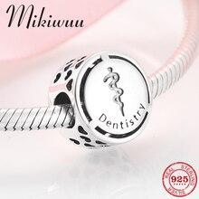 Nouveau 925 en argent Sterling profession dentisterie mode bricolage perles rondes ajustement Original Pandora Bracelet à breloques fabrication de bijoux