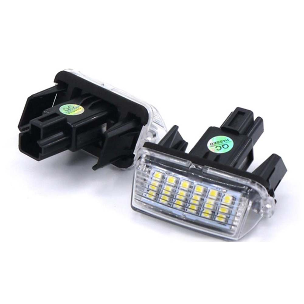 MASHA 12V LED luz de matrícula de coche para Toyota Camry 50 XV50 55 Yaris EZ Vios Corolla Levin Canbus trasera lámpara con forma de número