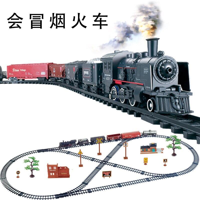 187 High simulation klasyczne pociągi elektryczne Vihcle Railway zmotoryzowany Trian Track Set zabawkowy Model dla dzieci zabawki dla dzieci