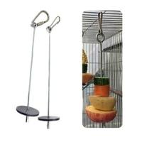 high quality pet parrots birds food holder support stainless steel fruit spear stick meat fruit vegetable skewer