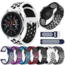 Ремешок силиконовый для Samsung Galaxy Watch 46 мм Gear S3 Classic/Frontier Galaxy Watch 3 45 мм, браслет для Huawei GT, 22 мм