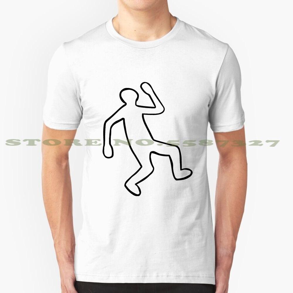 Escena del crimen contorno del cuerpo negro blanco camiseta para hombres mujeres dedo huella digital Punta del dedo huellas dactilares crimen Criminal