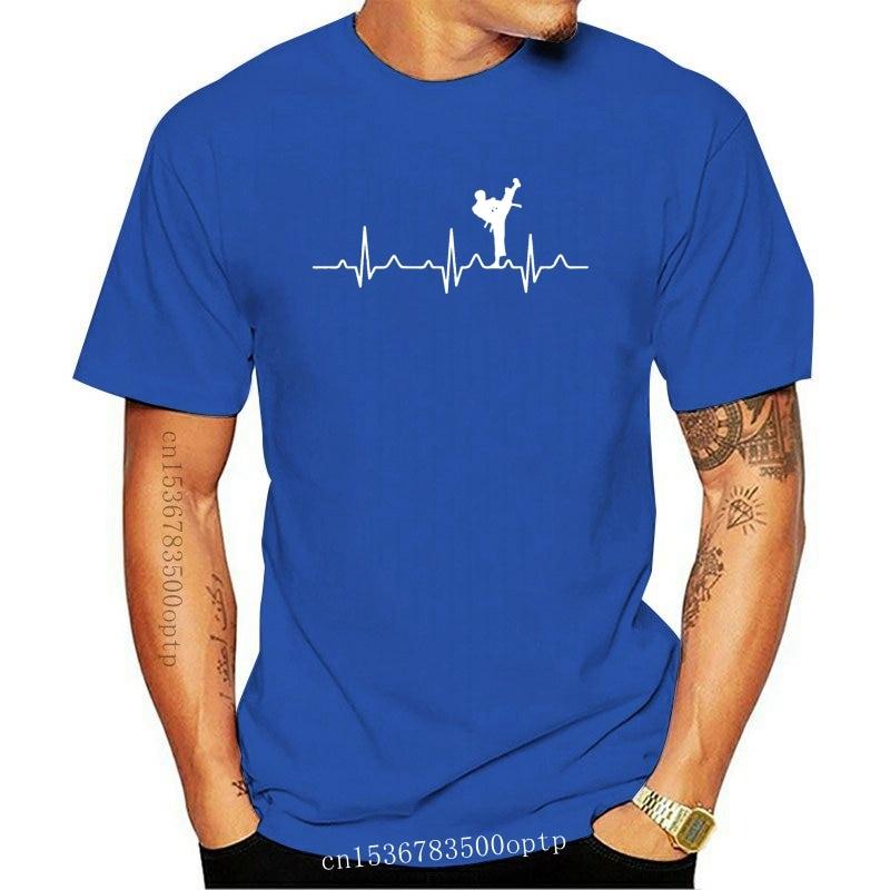 New Karate Kick Heartbeat Karate Lover Men T Shirt Popular Party 4XL 5XL 6XL Cotton Custom Short Sleeve Men T-shirts