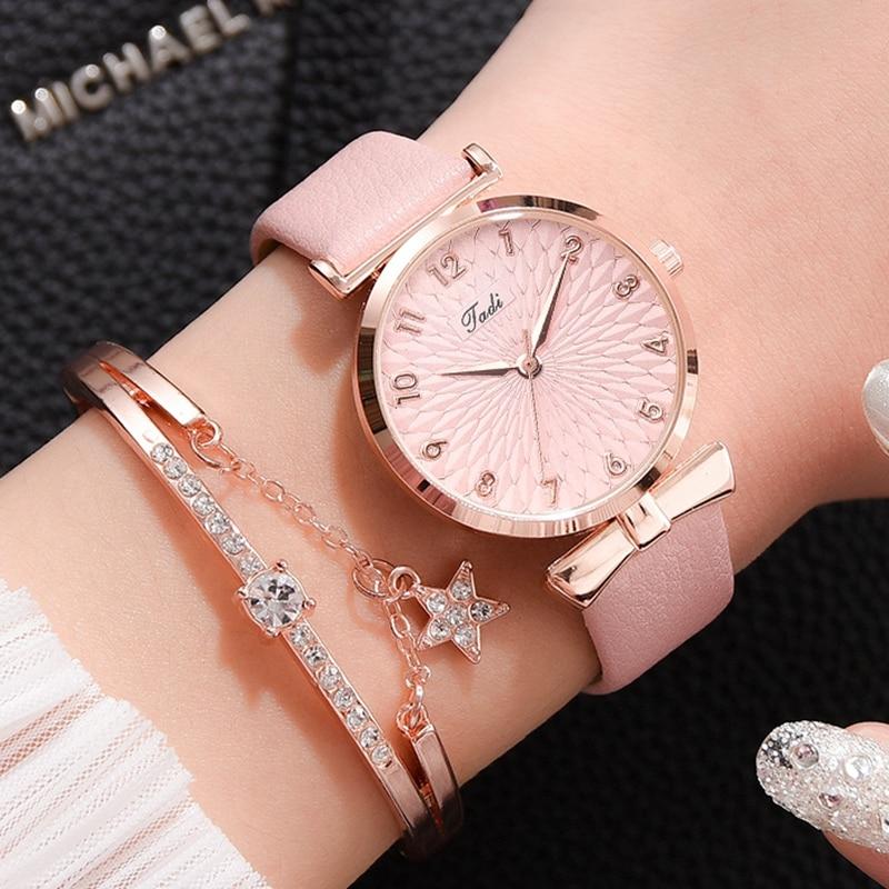 Luxury Women Bracelet Quartz Watches For Women Magnetic Watch Ladies Sports Dress Pink Dial Wrist Watch Clock Relogio Feminino enlarge