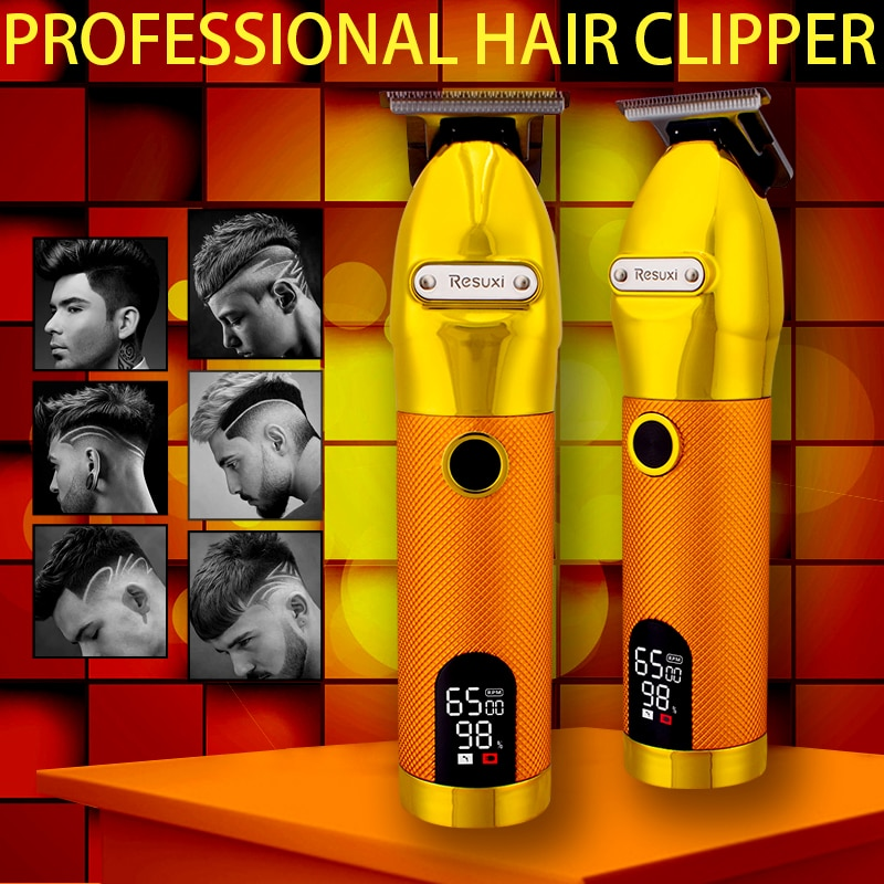 Professional Hair Clipper for Men Electric Hair Trimmer Barber Hair Cutting Machine USB Rechargeable Baldheaded Beard Trimmer professional lcd hair trimmer men s rechargeable hair clipper electric hair beard clipper barber hair cutting machine for men