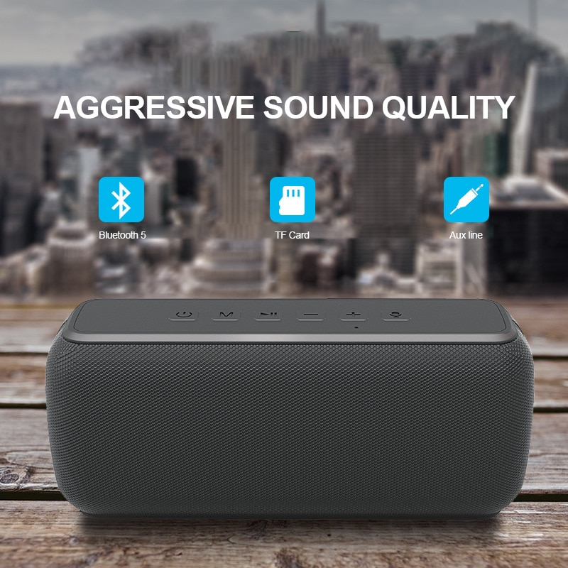 TWS Subwoofer Portable Bluetooth 5.0 Speakers Wireless 60W High Power Waterproof IPX5 Player Stereo Hifi Outdoor Speaker 6600mAh enlarge