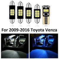 13pcs car white interior led light bulb package toyota venza for 2009 2016 map dome license lamp car interior light accessories