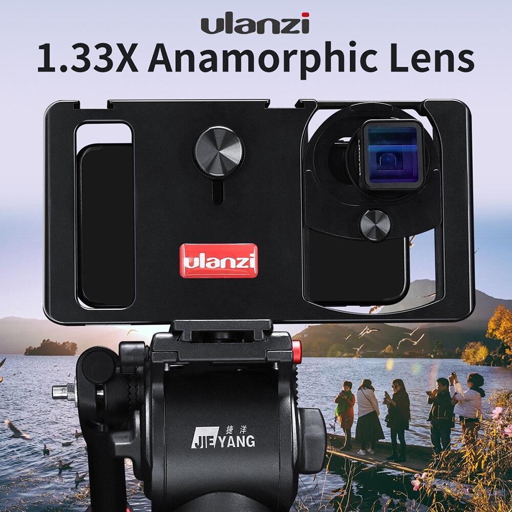 ULANZI Anamorphic объектив линзы для Мобильный телефон 1.33X широкий экран кино объектив для iPhone 7 8 plus Samsung S8 S9 S10 Plus Note10