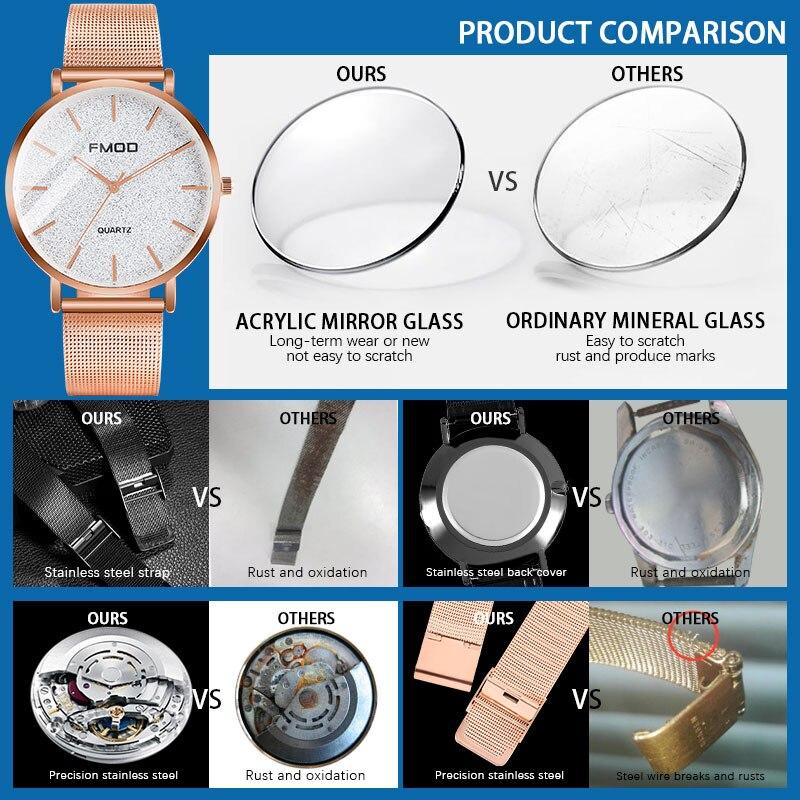 relogio feminino Luxury Brand Watch Women's Quartz Watches Rose Gold Steel Mesh Ladies Wrist Watches 40mm Waterproof Clock enlarge