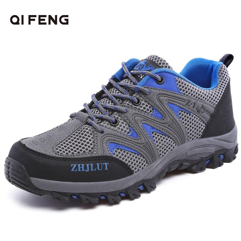Zapatos de senderismo transpirables con parte superior de malla para deportes al aire libre para hombre y mujer, calzado de Trekking resistente al desgaste para primavera y verano, zapatos de escalada en roca