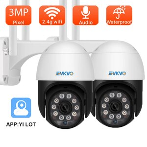 YI loT Outdoor IP Camera 3MP Full HD Security Surveillance PTZ Camera Weatherproof Full IR Night Vision CCTV Surveillance Camera