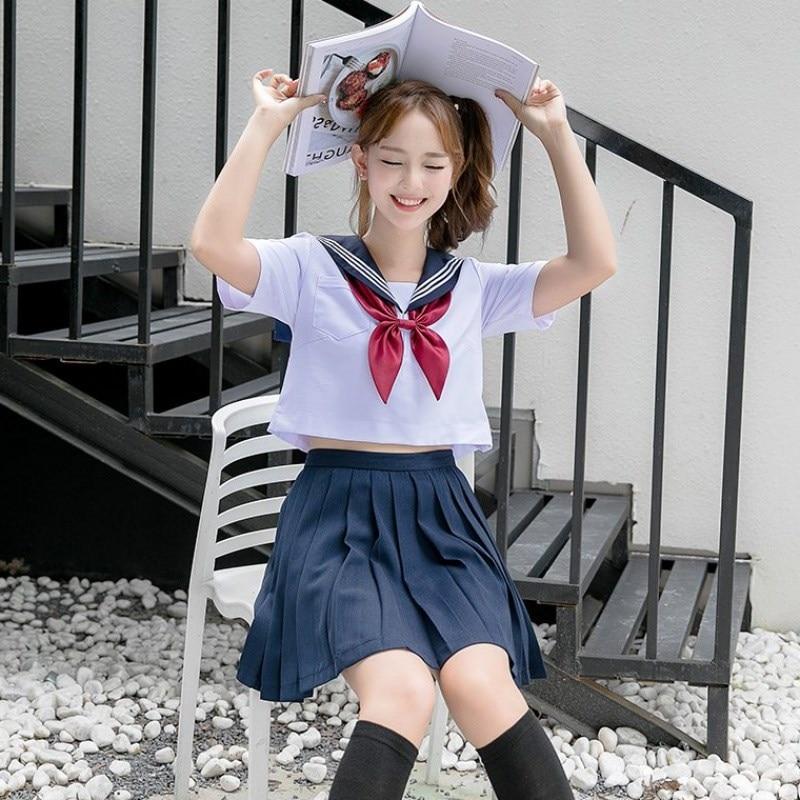 Navy Sailor School Uniform Plus Size 5XL Schoolgirl Uniforms Novelty Women Cosplay Costume Cheerleader Clothing