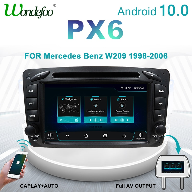 Wondefoo PX6 10 2 DIN Android rádio de Carro gps Para Mercedes Benz ML W163 W209 W203 W639 Viano Vito Vaneo auto de áudio estéreo 2din DVD