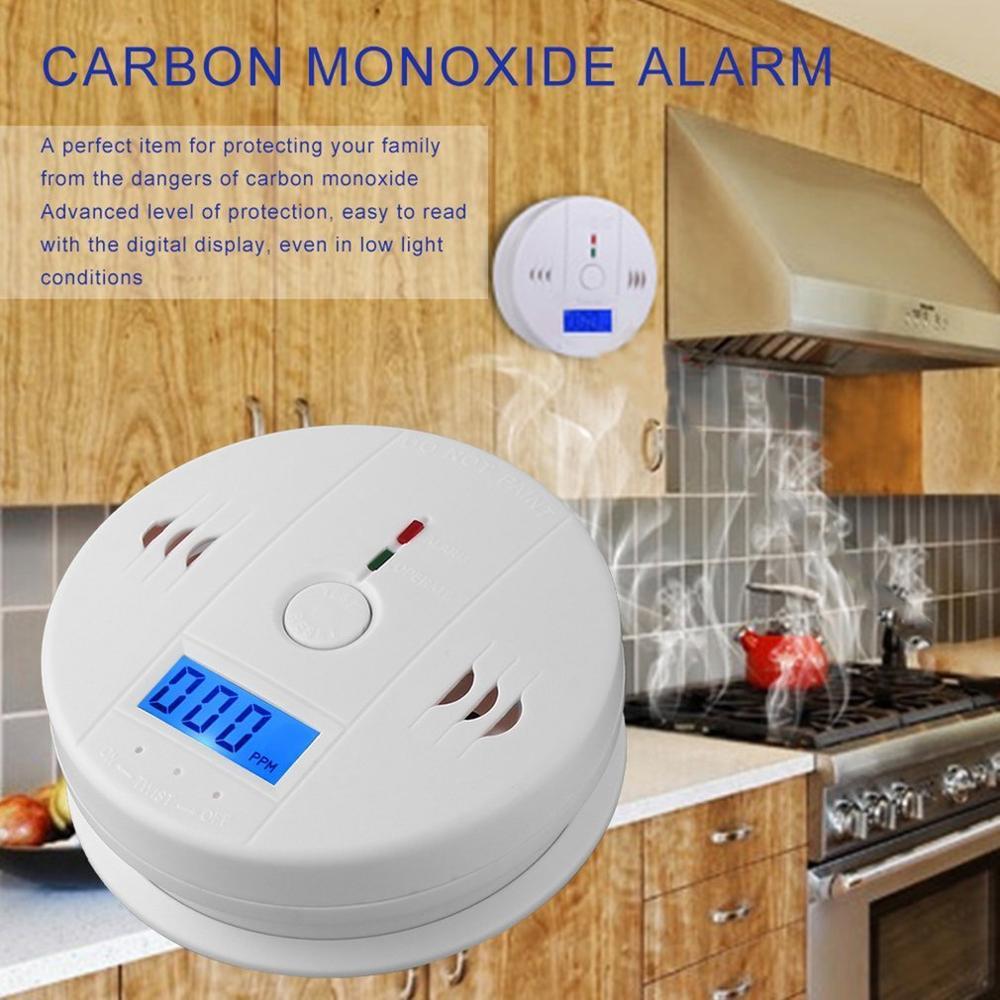2020 New Home Security 85dB Warning High Sensitive LCD CO Smoke Gas Sensor Carbon Monoxide Poisoning Alarm Detector
