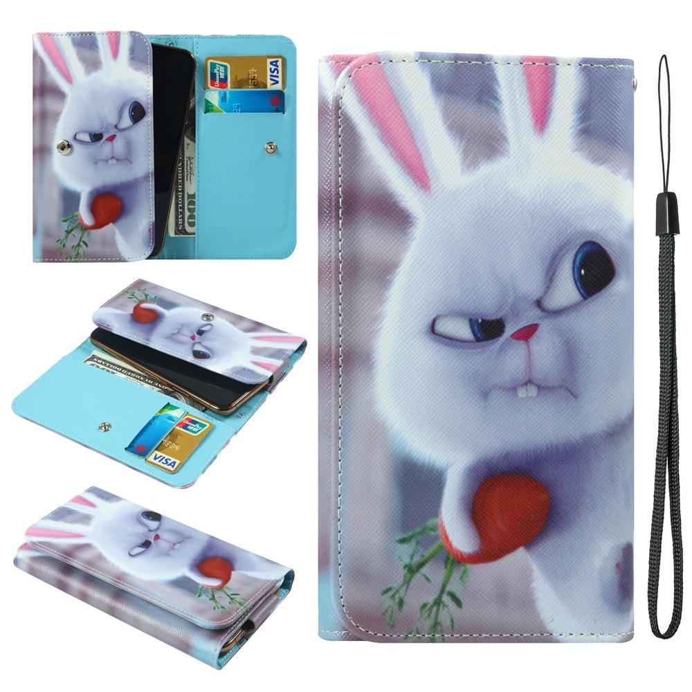 Para Huawei Y3C P8 Lite ShotX Y5 Y5C Y6 Y625 Y635 2015 Ascend G6 G620S G630 G7 GX1 P7 Mate7 mini, funda para teléfono tipo billetera