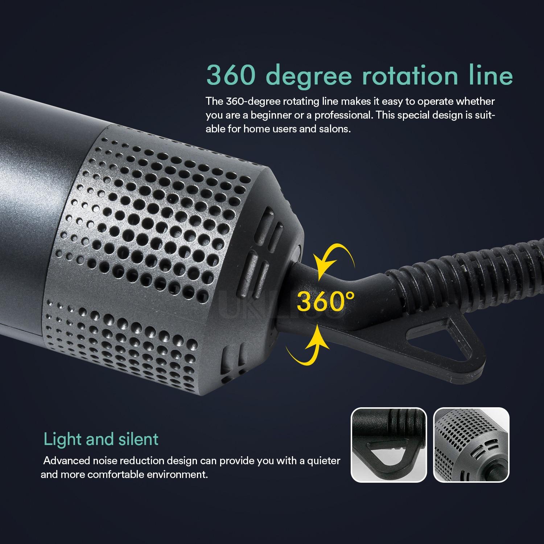 Professional Hair Dryer Hot Air Brush Multifunctional Blowers Fast Heating Negative Ionic Blowers Dryers 2-Gears Wind Salon Tool enlarge