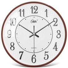 Horloge Murale de luxe nordique Design moderne cuisine montre silencieuse maison ronde salon Horloge Murale Horloge cadeau sur le mur ZB5WC