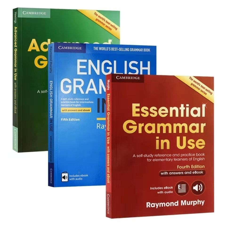 3 Books Cambridge Essential Advanced English Grammar in Use Collection Learning Textbook Workbook