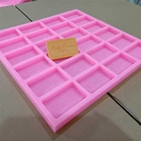 rectangle custom made silicone mold for soap making silicone mould trays fondant mold for hotel soap bath bomb wax melt moulds