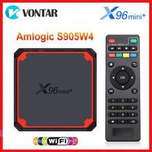 Vontar Amlogic S905W4 Android 9,0 TV Box X96 Mini Plus Quad Core A53 Dual Wifi 4K Set Top Box google Stimme Youtube X96Mini Digitalempfänger    -