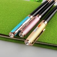 new luxury high quality color frosted 4 colour business office fountain pen student school stationery supplies ink pens